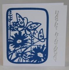 Wildflower Butterfly Card