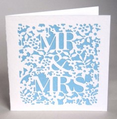 Mr &Mrs Floral Wedding Card