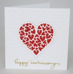Heart Of Hearts Anniversary Card