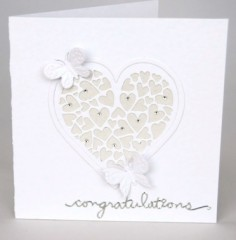 Wedding Hearts and Butterflies Card