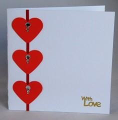 Three Hearts Card