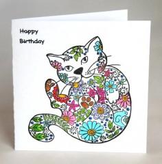 Pussy Cat Birthday Card