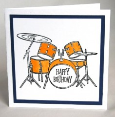 Drum Kit Birthday Card