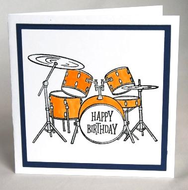 Drum Kit Birthday Card
