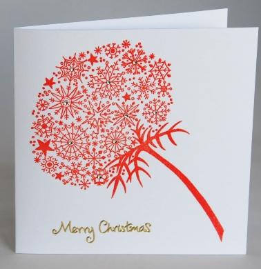 Snowflake Flower Card