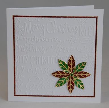 Poinsettia Card