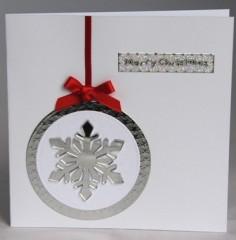 Mirror Snowflake Card