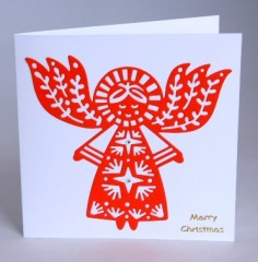 Scandi Angel Christmas Card