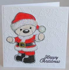 Teddy Santa Christmas Card