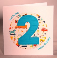 Happy Second Birthday Card