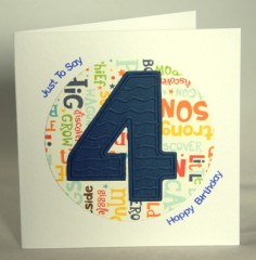 Happy Fourth Birthday Card