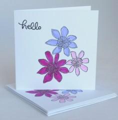 Floral trio notecards