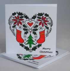 Love At Christmas card pack