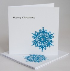 Blue Snowflake Card Pack