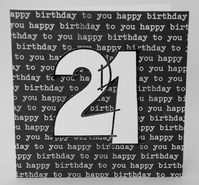 A fun 21st birthday card for a boy handmade by helen twentyfirst birthday boys card bookmarktalkfo Images