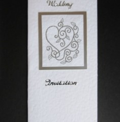 Embossed Heart Wedding Stationery