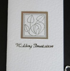 Rennie MacIntosh Rose Wedding Stationery
