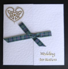 Scottish Hearts and Ribbons Wedding Stationery