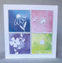 Woodland Flowers Birthday Card