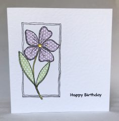 Floral Fancy Birthday Card